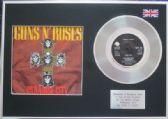 "Guns n' Roses - 7"" Platinum Disc+Cover - Paradise City"
